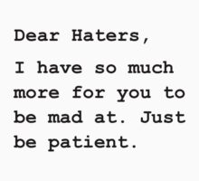 Dear Haters One Piece - Short Sleeve