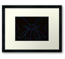 Black and Blue Hair Bow Framed Print