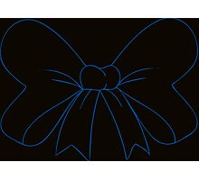 Black and Blue Hair Bow Photographic Print