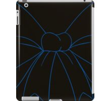 Black and Blue Hair Bow iPad Case/Skin