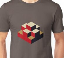 Isometric abstract geometric Unisex T-Shirt