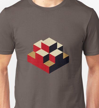 Isometric abstract geometric Unisex T-Shirt