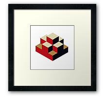 Isometric abstract geometric Framed Print