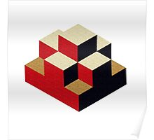 Isometric abstract geometric Poster