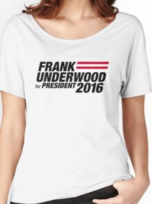 Frank Underwood - Black Women's Relaxed Fit T-Shirt