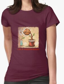 vegetarian plant Womens Fitted T-Shirt