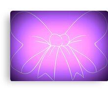 Pink Purple Fade Bow Canvas Print