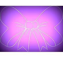 Pink Purple Fade Bow Photographic Print