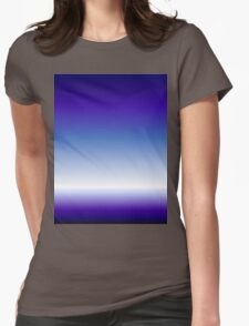 hip girly trendy abstract royal blue purple ombre  Womens Fitted T-Shirt