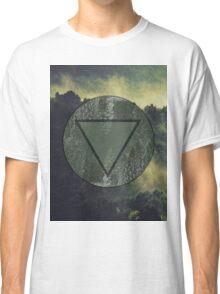 Dark Forest Green fog Landscape Classic T-Shirt
