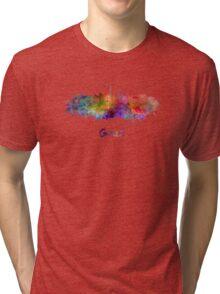 Graz skyline in watercolor Tri-blend T-Shirt