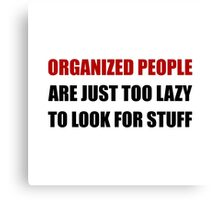 Organized People Canvas Print