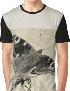 Wetnose Butterfly, Peacock Sepia Graphic T-Shirt