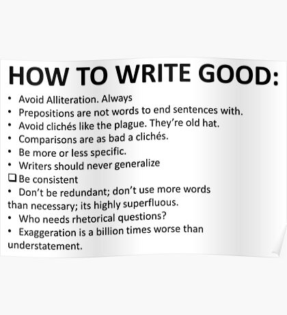 How To Write Good Poster