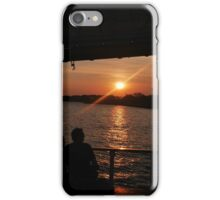 Sunset over the Hudson iPhone Case/Skin
