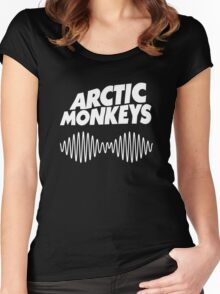 Arctic Monkeys - White Women's Fitted Scoop T-Shirt
