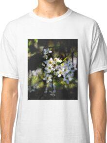 Hawthorn blossom grunge. Classic T-Shirt