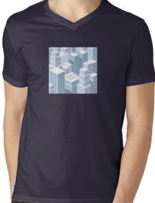 Rooftops skyscrapers Mens V-Neck T-Shirt