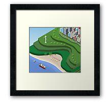 Beach Sea isometric  Framed Print