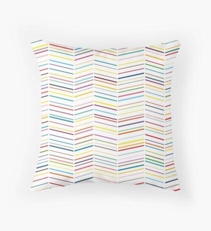 Colourful Herringbones II Throw Pillow