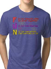 F.U.N Song (Spongebob Version) - Spongebob Tri-blend T-Shirt