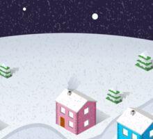 Isometric City Christmas Sticker