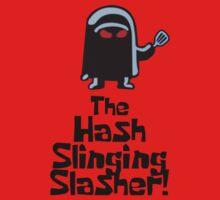 The Hash Slinging Slasher! (Black Text) - Spongebob Kids Tee