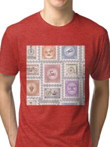 Postage stamps Tri-blend T-Shirt