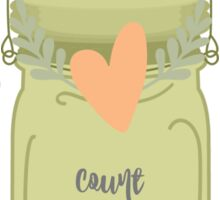 Count Your Blessings Mason Jar Sticker