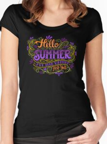 Hello summer. I have been waiting for you.  Women's Fitted Scoop T-Shirt