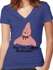 Who You Calling Pinhead? - Spongebob Women's Fitted V-Neck T-Shirt