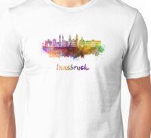 Innsbruck skyline in watercolor Unisex T-Shirt