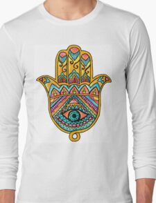 Rainbow Hamsa Hand Long Sleeve T-Shirt