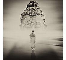Walk to Buddha Photographic Print