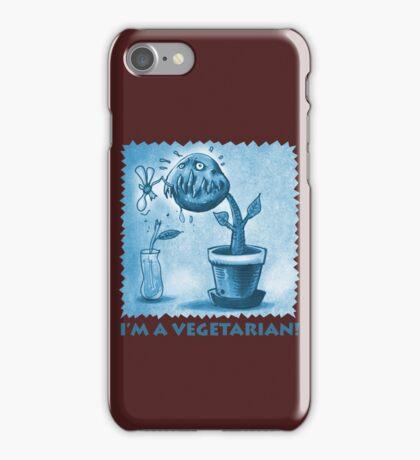 vegetarian plant blue iPhone Case/Skin