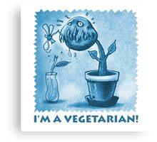 vegetarian plant blue Canvas Print