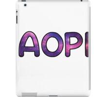 ALPHA OMICRON PI AOPI SORORITY STICKER GALAXY iPad Case/Skin