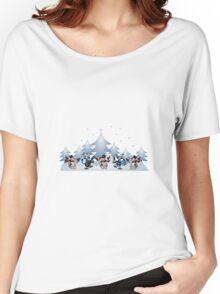 Snowmen & Reindeer Women's Relaxed Fit T-Shirt