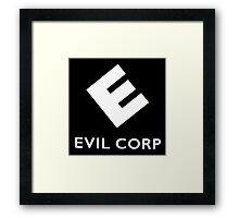 EVIL CORP Framed Print