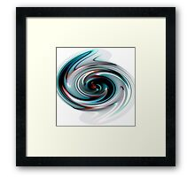 Abstract Paint Swirl Framed Print