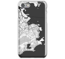 Rio de Janeiro City Map Gray iPhone Case/Skin