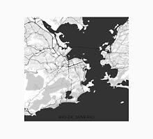 Rio de Janeiro City Map Gray Unisex T-Shirt