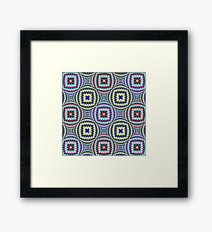 Kaleidoscopic Burst of Joy Framed Print