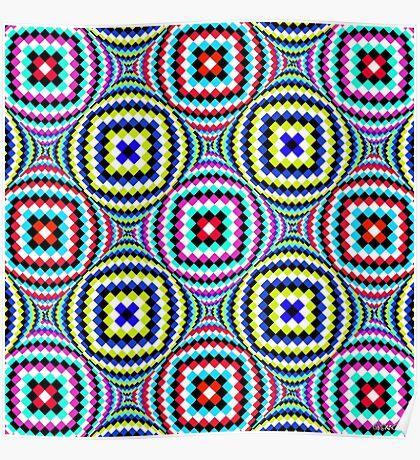 Kaleidoscopic Burst of Joy Poster