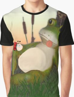 The Frog and the Ladybug Graphic T-Shirt