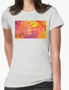 Sun Clematis Womens Fitted T-Shirt
