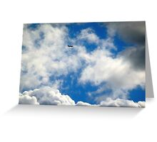 Plane In the Sky Greeting Card