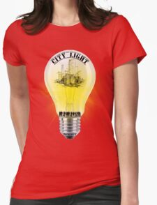 city light cool desing  Womens Fitted T-Shirt