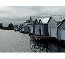 Boathouses On The Canal Photographic Print