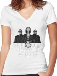All Good Things GAS MASK Women's Fitted V-Neck T-Shirt